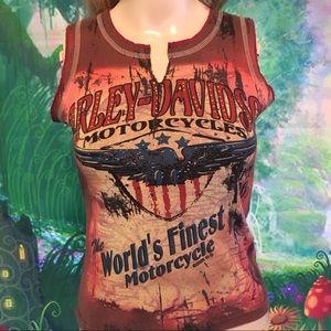 Harley Davidson Women muscle T-shirt